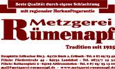 Metzgerei Rümenapf