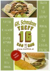 Cafe-Pub TREFF 16 und Gasthaus SCHMALZER am Johannesweg in Schönau im Bezirk Freistadt.