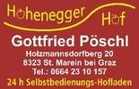 Hohenegger Hof   Landwirt Gottfried Pöschl