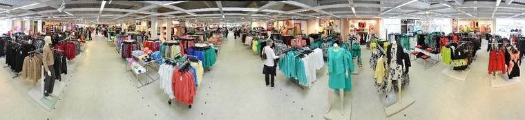 Modemarkt Ansfelden Innenpanorama