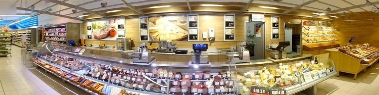 Innenansicht Fleisch Wurst und Brot