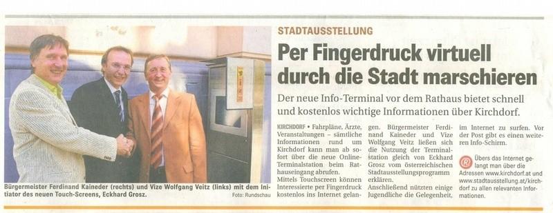 Eröffnung Stadtausstellung Kirchdorf