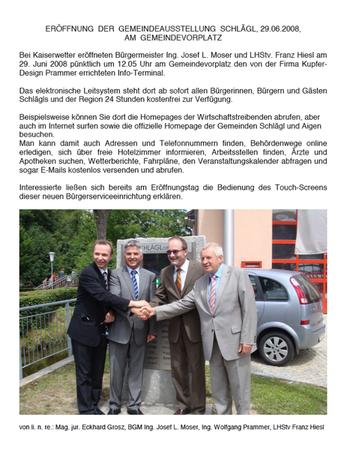 Eröffnung Gemeindeausstellung Schlägl