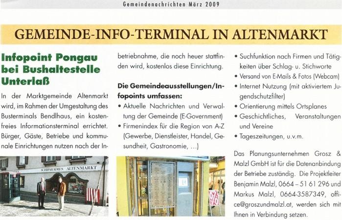 Ankündigung Gemeindeausstellung Altenmarkt