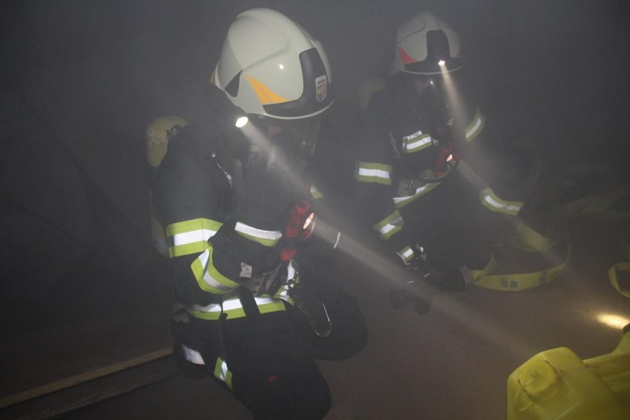 Übung: Brandeinsatz