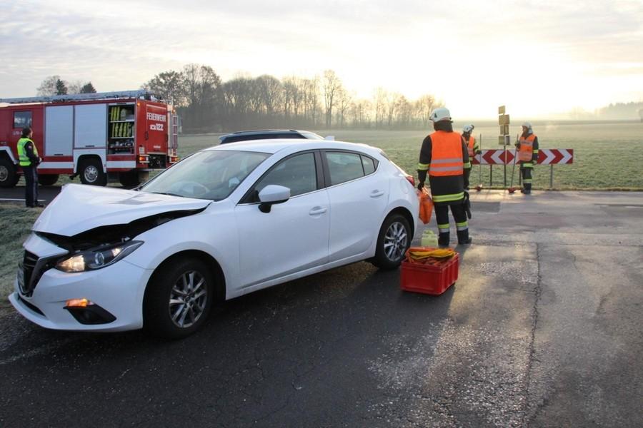 Einsatz: Verkehrsunfall, Aufräumarbeiten