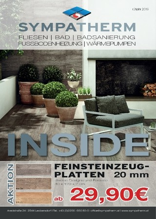 Aktuelle INSIDE Ausgabe zum Jahresbeginn 2019