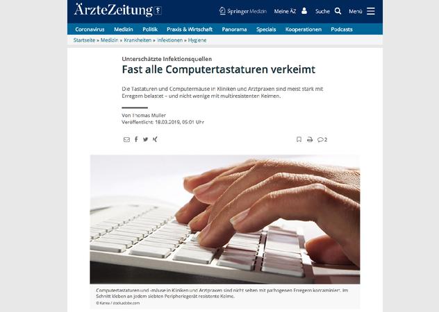 Unterschätzte Infektionsquellen - Fast alle Computertastaturen verkeimt