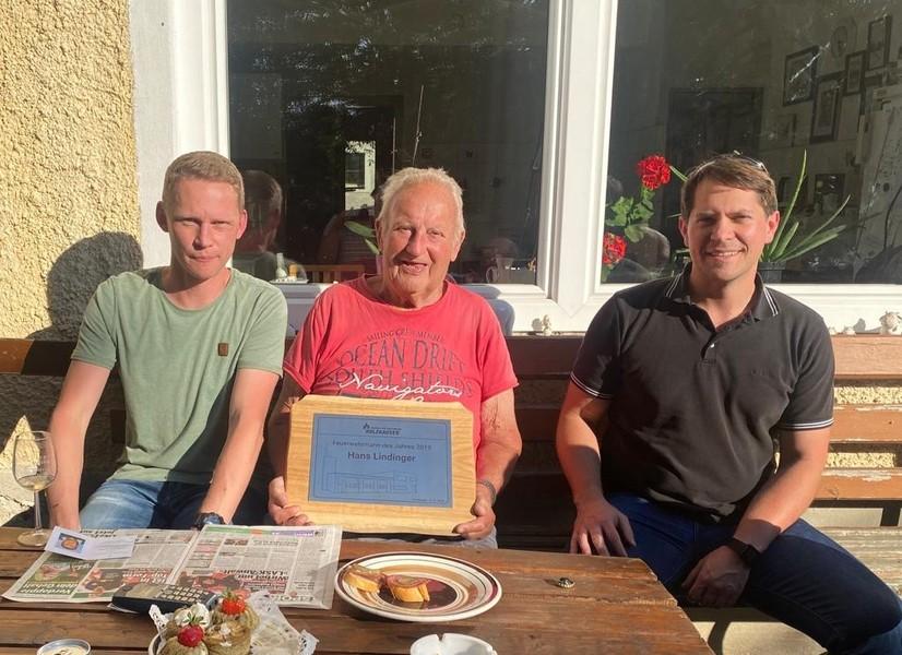 86. Geburtstag Lindinger Johann Sen. & Feuerwehrmann des Jahres