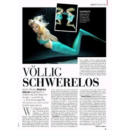Bericht Unterwasserfotoshooting Miss Vienna
