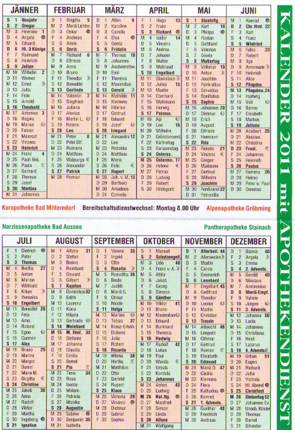 kalenderdienst