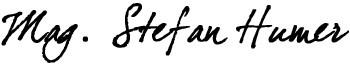 humer unterschrift