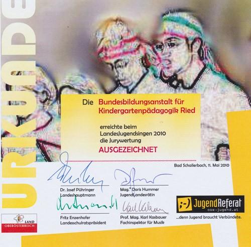 2010 Urkunde LJS