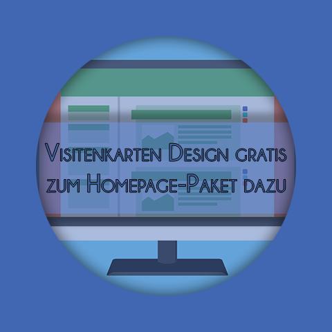 VisitenkartenDesign gratis zu Homepage-Paket dazu