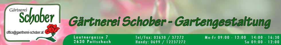 Gartnerei Schober Banner