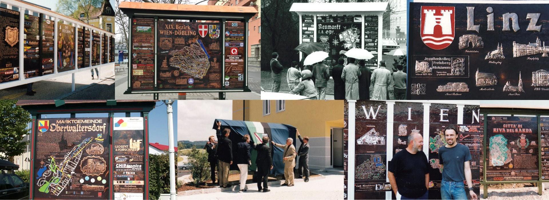 Kupfer Informationsanlagen Stadtausstellung Gemeindeausstellung